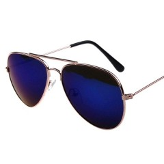Newest Pilot Fashion Mirror Sunglasses Men Women Ladies Aviator Driving Sun Glasses Shades Eyewear Gold-Purple one size