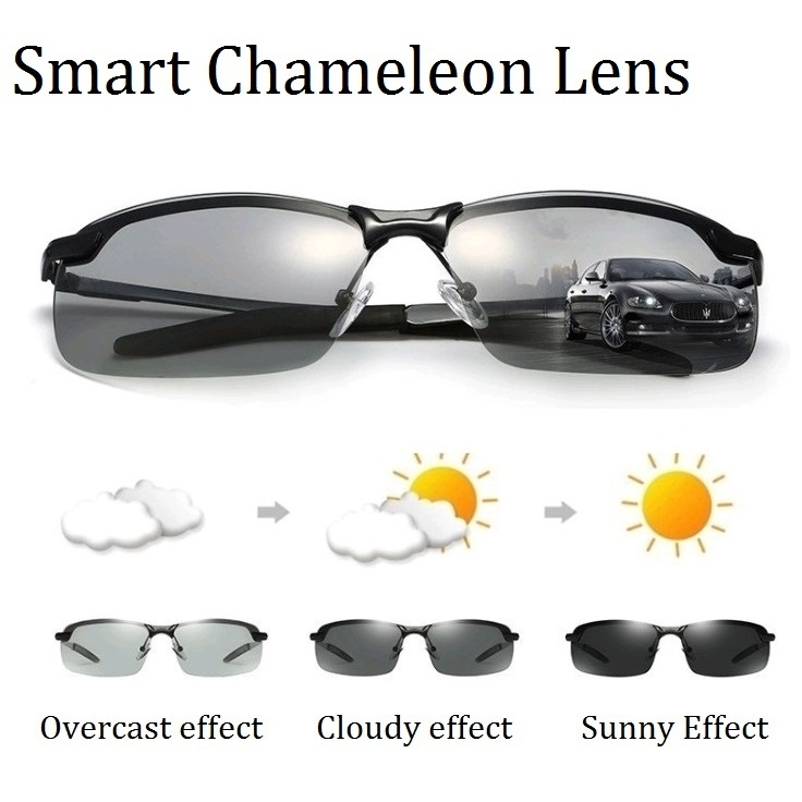 1820fb899cd Newest Photochromic Polarized Sunglasses Men Driving Cycling Black ...