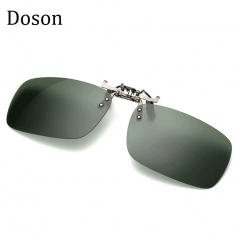 Night Vision Men Women Clip On Sunglasses Men Ladies Driving Polarized Sun Glasses Eyewear Blackish green one size
