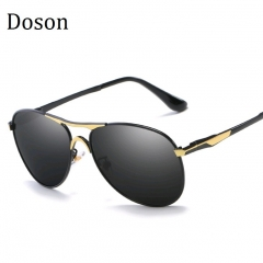 Newest Fashion Aviator Polarized Sunglasses Men Alloy Frame Driving Sun Glasses Men Shades Eyewear C3 (Black legs) one size