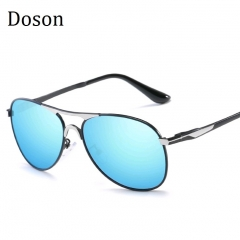 Newest Fashion Aviator Polarized Sunglasses Men Alloy Frame Driving Sun Glasses Men Shades Eyewear C6 one size
