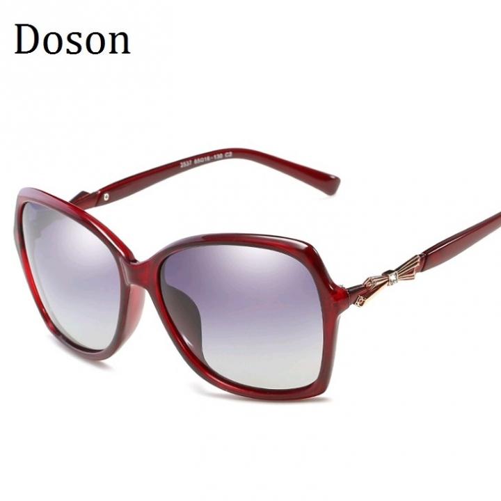 11ee82c054 New Oversized Polarized Sunglasses Women Ladies Driving Retro Sun Glasses  Shades Eyewear Big Frames Red Wine