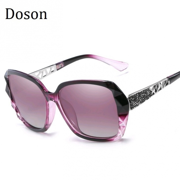 241f57826d New Vintage Oversized Polarized Sunglasses Women Ladies Driving Sun Glasses  Retro Shades Big Frames Transparent purple