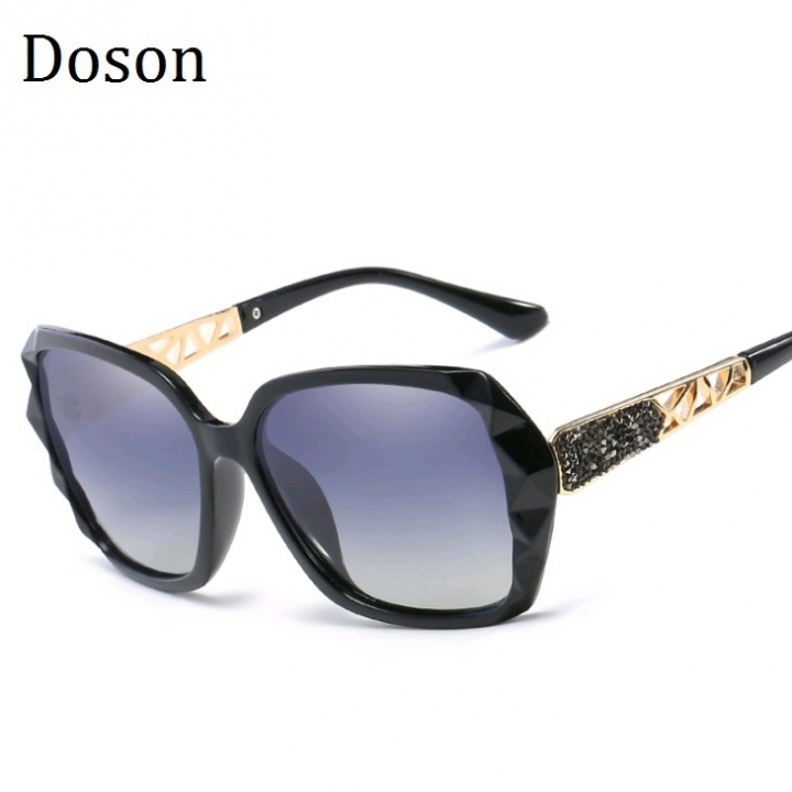 7f29a54d6f New Vintage Oversized Polarized Sunglasses Women Ladies Driving Sun Glasses  Retro Shades Big Frames Black frame