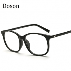 Korean Eyeglasses Frames Clear Lens Fake Optical Glasses Leopard Vintage Eyewear Glasses Men Women Matte Black one size