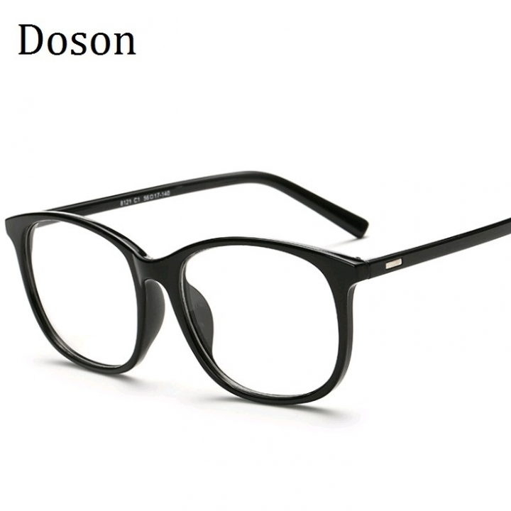 85c33d8d537 Korean Eyeglasses Frames Clear Lens Fake Optical Glasses Leopard Vintage Eyewear  Glasses Men Women Bright Black