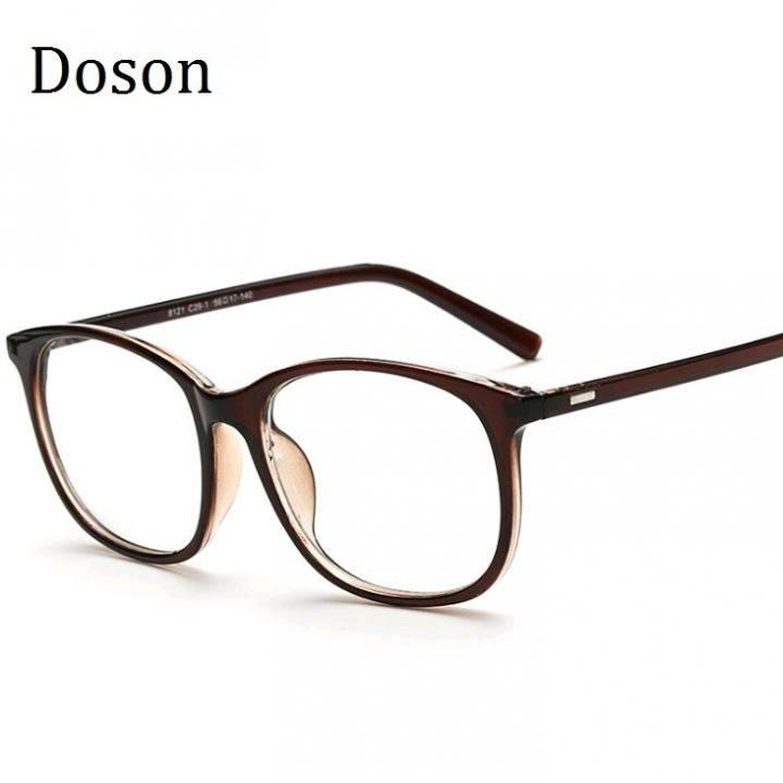 3877ccac93 Korean Eyeglasses Frames Clear Lens Fake Optical Glasses Leopard Vintage Eyewear  Glasses Men Women Brown one