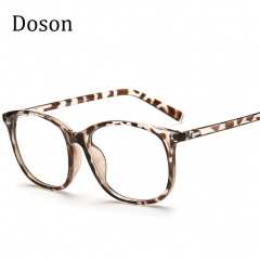 Korean Eyeglasses Frames Clear Lens Fake Optical Glasses Leopard Vintage Eyewear Glasses Men Women Leopard one size