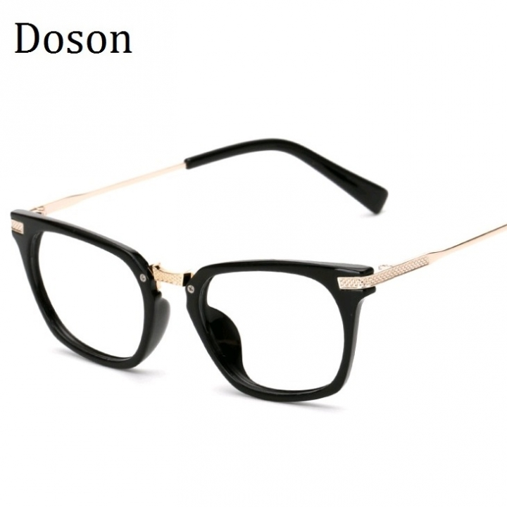 0d329c6f65 Newest Metal Vintage Glasses Men Women Ladies Optical Eyeglasses Frames  Clear lens Retro Eyewear Bright black