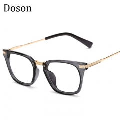 Newest Metal Vintage Glasses Men Women Ladies Optical Eyeglasses Frames Clear lens Retro Eyewear Transparent grey frame one size
