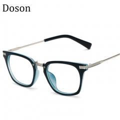 Newest Metal Vintage Glasses Men Women Ladies Optical Eyeglasses Frames Clear lens Retro Eyewear Blue frame one size