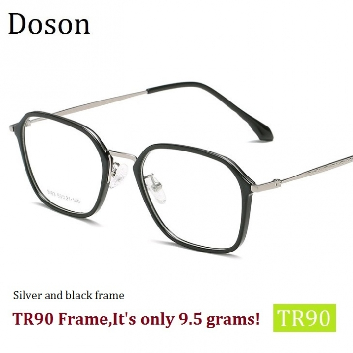 b3c374a664 TR90 Fashion Alloy Glasses Frames Men Women Vintage Optical Eyeglasses Clear  lens Eyewear Goggles Silver and