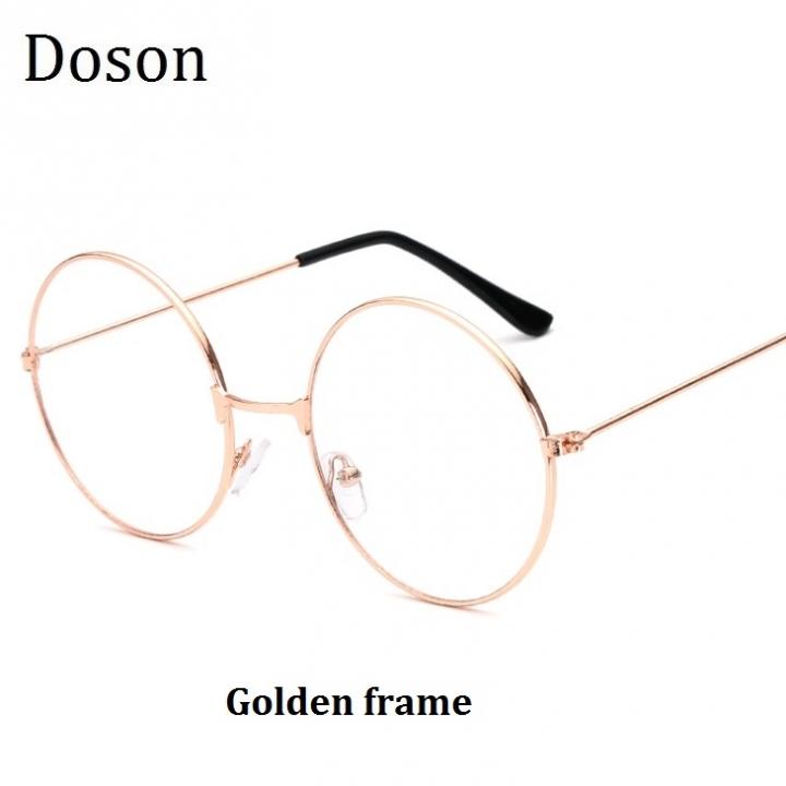 ac0cd06537f8 Vintage Round Glasses Women Ladies Clear Lens Optical Eyeglasses Frames  Metal Retro Eyewear Goggles Golden frame