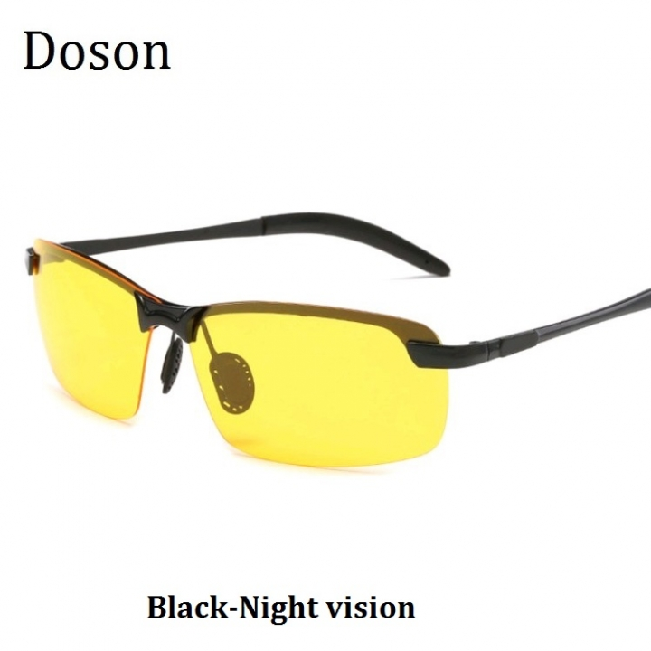 803a755756a Newest Fashion Polarized Sunglasses Men Driving HD Night Vision Rimless Sun Glasses  Eyewear Frames Black-
