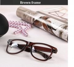 Newest Vintage Glasses Men Women Ladies Clear lens Retro Optical Eyeglasses Frames Eyewear Brown frame one size