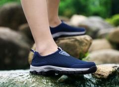 New Men Casual Shoes Men's Flat Breathable Men's Fashion Classic Shoes For Men Canvas Shoes 48 yards Blue 39