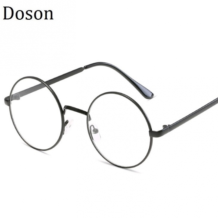 8b1b2109c6 Classical Vintage Glasses Women Men Round Retro Optical Eyeglasses Frame  Clear lens Ladies Eyewear Black frame