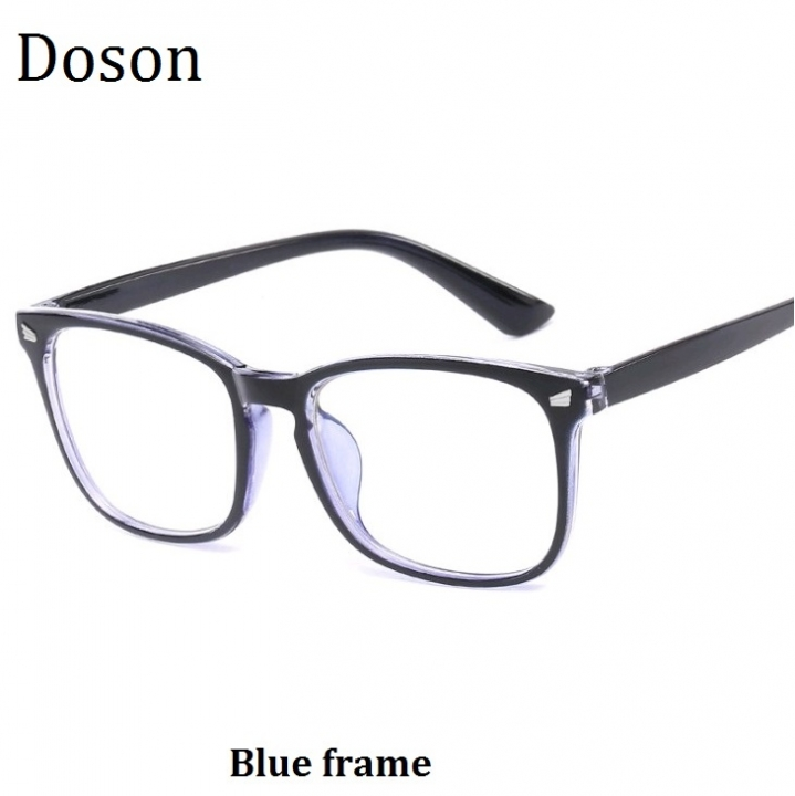 ca15beeab58 Newest Square Fashion Vintage Glasses Men Women Ladies Optical Eyeglasses  Frames Retro Eyewear Blue frame one