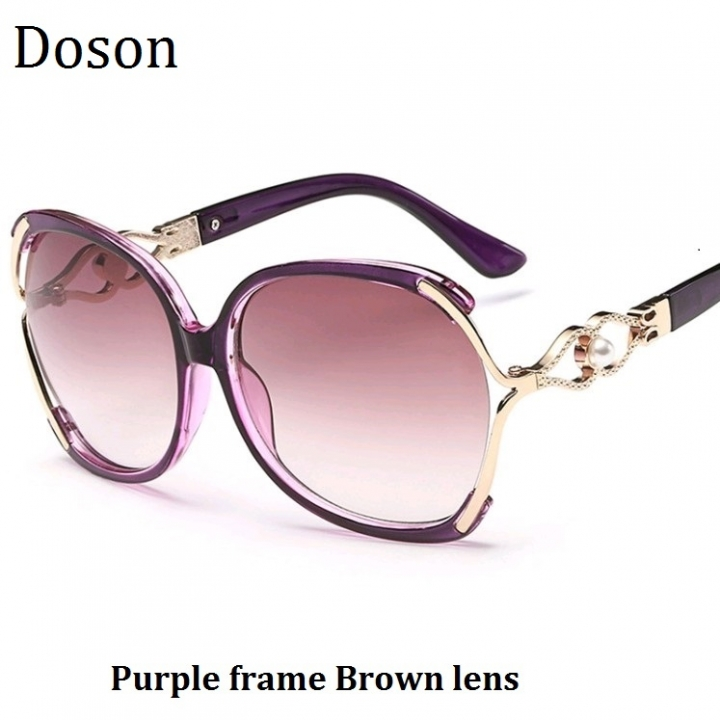 579bb4f710 Fashion Vintage Oversized Sunglasses Women Ladies Driving Retro Sun Glasses  Big Frame Shades Eyewear Purple frame