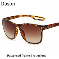 Newest Fashion Vintage Unisex Sunglasses Women Men Ladies Driving Retro Sun Glasses Shades Eyewear Patterned frame Brown lens one size