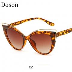 Newest Fashion Cat Eye Vintage Sunglasses Women Ladies Driving Retro Sun Glasses Shades Eyewear C2 one size