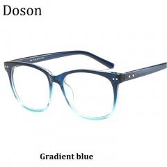 Newest Vintage Optical Glasses Men Women Myopia Eyeglasses Frame Fashion Retro Eyewear Ladies Shades Gradient blue one size