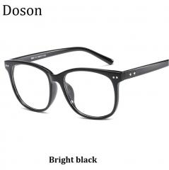Newest Vintage Optical Glasses Men Women Myopia Eyeglasses Frame Fashion Retro Eyewear Ladies Shades Bright black one size