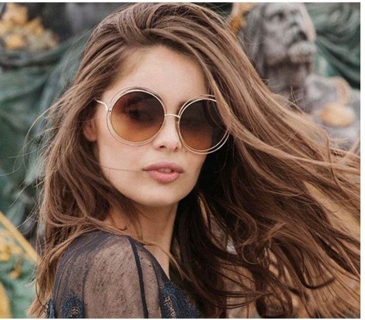 9ee752b5ebb Newest Vintage Oversized Mirror Sunglasses Women Ladies Driving Sun Glasses  Shades Big Frame Eyewear Gold