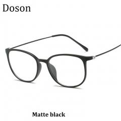 2018 New Vintage Optical Glasses Women Men Fashion Myopia Eyeglasses Frame Sunglasses Ladies Eyewear Matte black one size