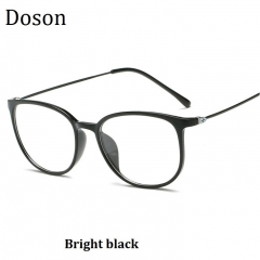 2018 New Vintage Optical Glasses Women Men Fashion Myopia Eyeglasses Frame Sunglasses Ladies Eyewear Bright black one size