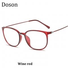 2018 New Vintage Optical Glasses Women Men Fashion Myopia Eyeglasses Frame Sunglasses Ladies Eyewear Wine red one size