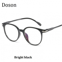 Newest Round Retro Glasses Men Women Clear Lenses Optical Eyeglasses Frames Vintage Eyewear Ladies Bright black one size