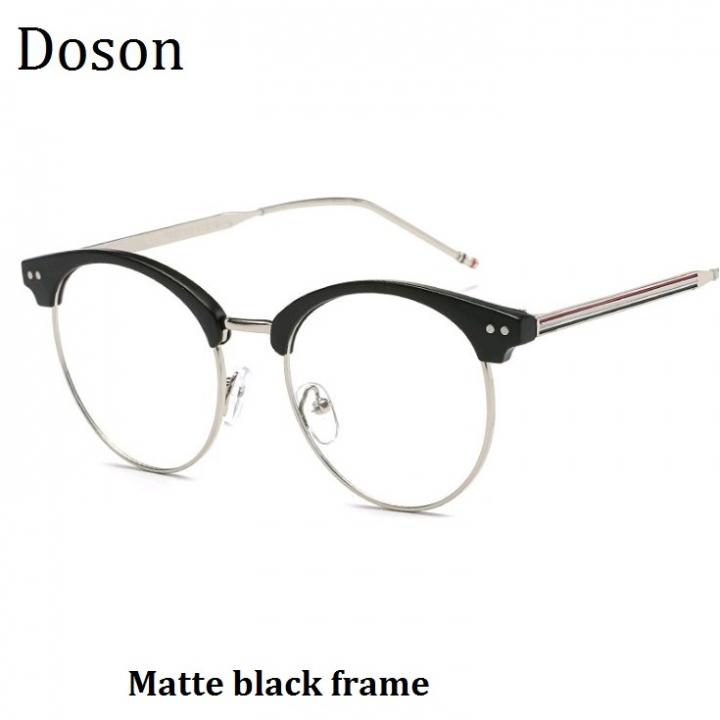 c30b0bb30fe New Fashion Vintage Round Glasses Men Women Ladies Clear Lens Optical  Eyeglasses Frame Retro Eyewear Matte