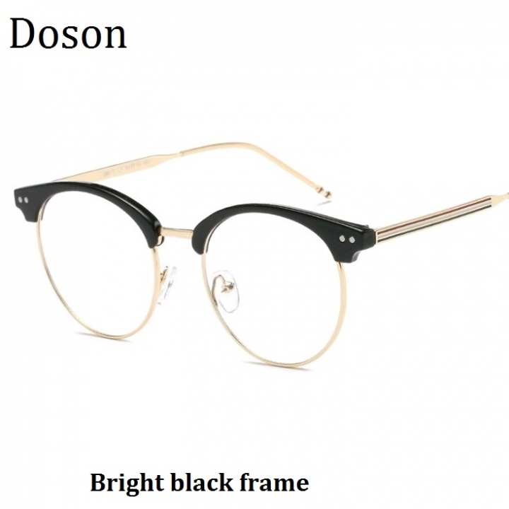 89d60e4224 New Fashion Vintage Round Glasses Men Women Ladies Clear Lens Optical  Eyeglasses Frame Retro Eyewear Bright