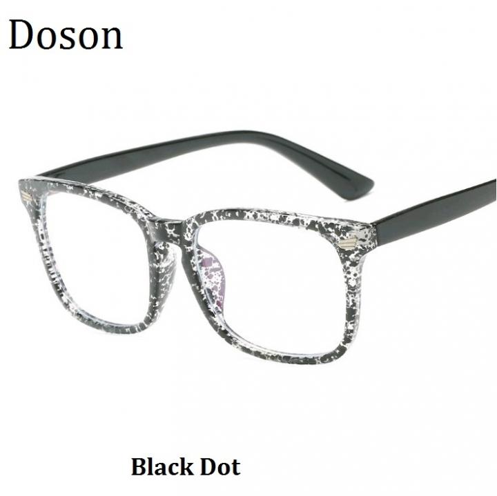 2a260b14ae17 Newest Fashion Vintage Glasses Women Men Ladies Clear Lens Optical  Eyeglasses Frames Retro Eyewear Black Dot