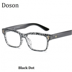 Newest Square Vintage Glasses Women Men Ladies Fashion Retro Optical Eyeglasses Frame Myopic Eyewear Black Dot one size