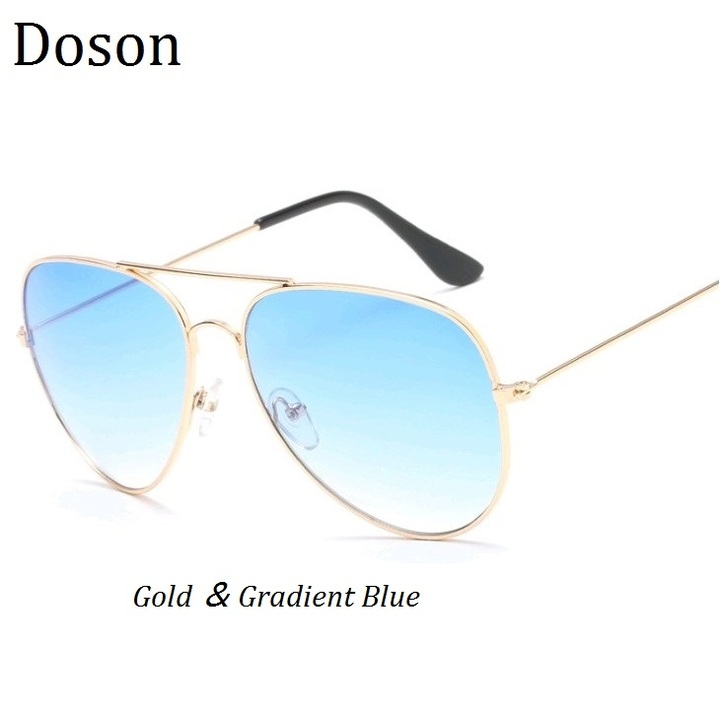 ffddb5b4ca6 Classic Pilot Sunglasses Men Women Metal Frames Aviator Driving Sun Glasses  Ladies Eyewear Shades Gold-