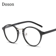 Newest TR90 Ultralight Round Glasses Men Women Ladies Clear lens Myopic Optical Eyeglasses Frames Black frame one size