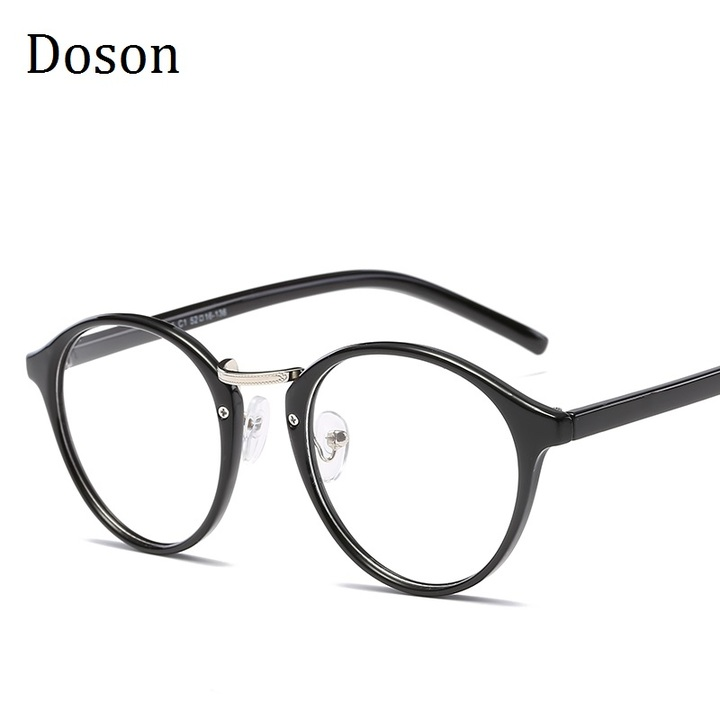 d29f9639a1 Newest TR90 Ultralight Round Glasses Men Women Ladies Clear lens Myopic  Optical Eyeglasses Frames Black frame