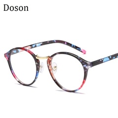 Newest TR90 Ultralight Round Glasses Men Women Ladies Clear lens Myopic Optical Eyeglasses Frames Flowers frame one size