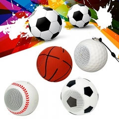 Mini Bluetooth Wireless Speaker Creative Basket Ball Shape Speaker football one size
