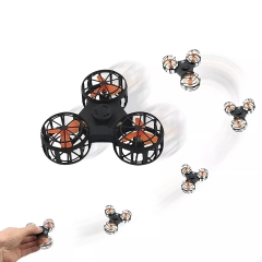 Boomerang Aircraft Flying Gyro Finger Swing Automatic rotation and flying Decompression toys black one size
