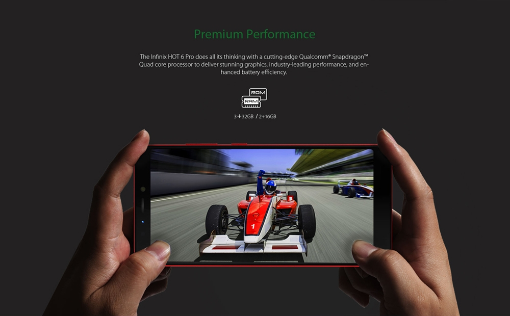 INFINIX HOT 6 PRO, 3+32G, 6.0 HD, Dual camera, 4000mAh, 4G LTE, FACE + FIGERPRINT UNLOCK, Smartphone black 6