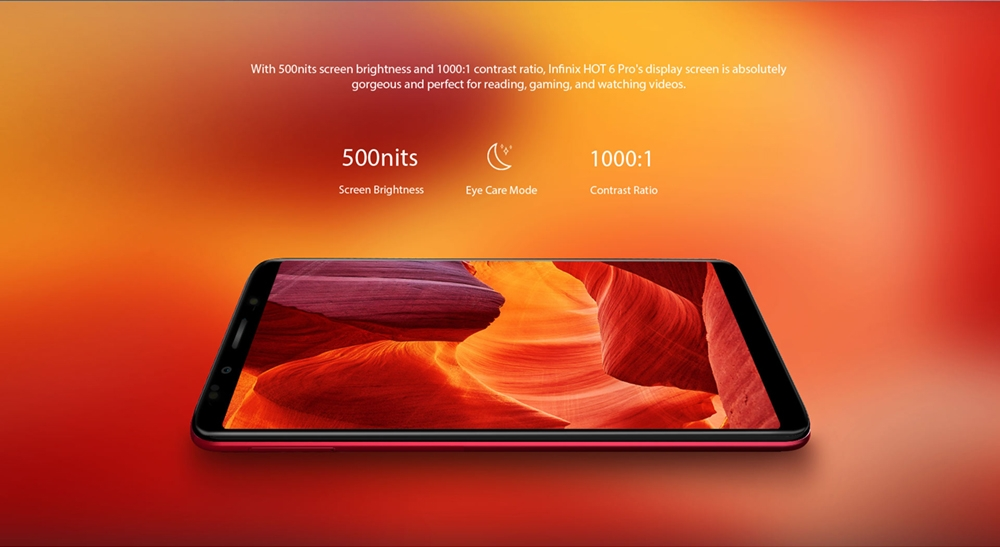 INFINIX HOT 6 PRO, 3+32G, 6.0 HD, Dual camera, 4000mAh, 4G LTE, FACE + FIGERPRINT UNLOCK, Smartphone black 3