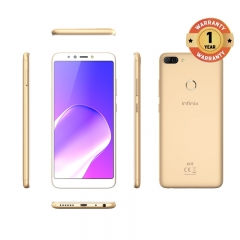 INFINIX HOT 6 PRO, 3+32G, 6.0 HD, Dual camera, 4000mAh, 4G LTE, FACE + FIGERPRINT UNLOCK, Smartphone gold