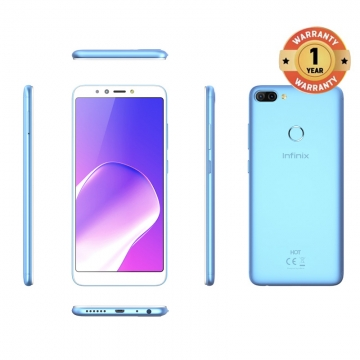 INFINIX HOT 6 PRO, 3+32G, 6.0 HD, Dual camera, 4000mAh, 4G LTE, FACE + FIGERPRINT UNLOCK, Smartphone blue