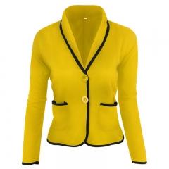 Women 2018 Spring Autumn Long Sleeve V-Neck Women's Sweater Cardigan Female Single Button Pull coat black s