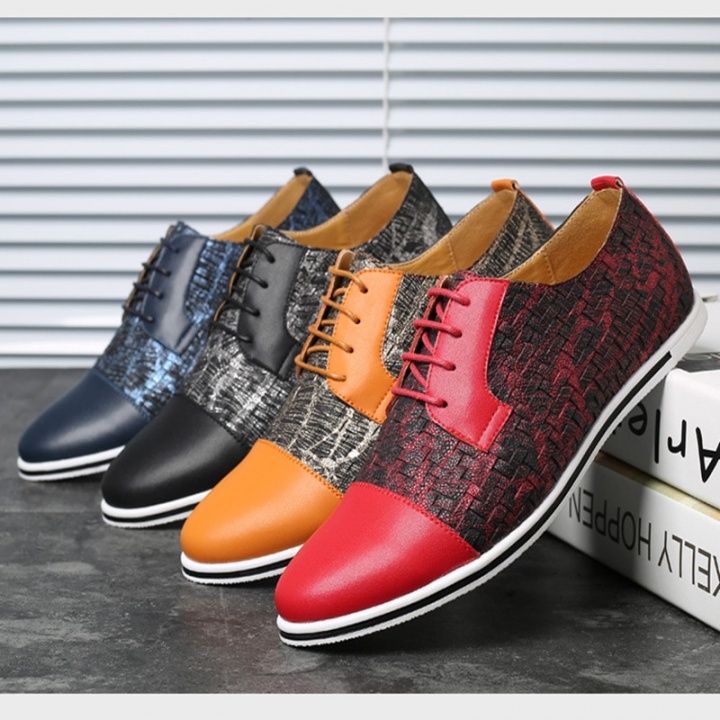62d5af9ded7 Kilimall  Hot Fashion Men Casual Shoes Stitching color Flat shoes ...