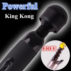 Powerful Vibrator+Silicone Sleeve Body Massage Stimulation Sex Products Best Sex Toy black one size