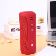New Outdoor Speaker Waterproof Portable Bluetooth Speaker Wireless Bluetooth Subwoofer Stereo Audio Red one size